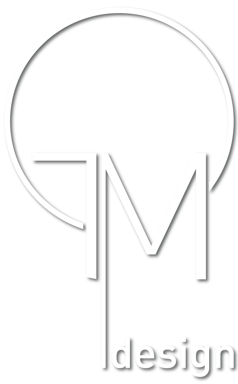 tm design logo white